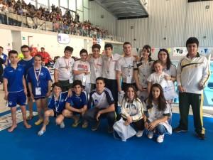 Quince nadadores representar n a madrid en el campeonato for Piscina somontes